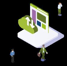 Hostingoplossingen van ICT Concept